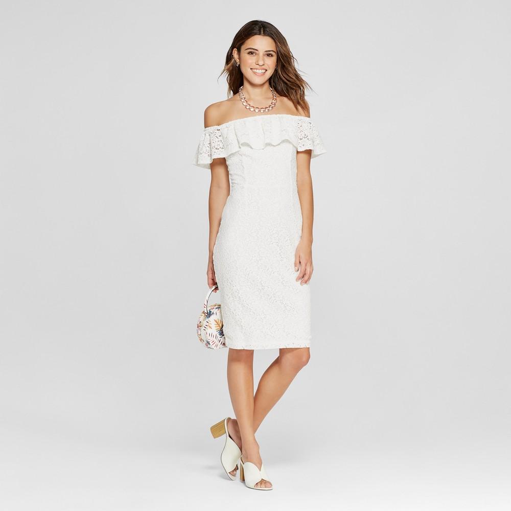 Women's Ruffle Lace Sheath Dress - XOXO (Juniors') White XL, Size: XL was $79.0 now $35.54 (55.0% off)