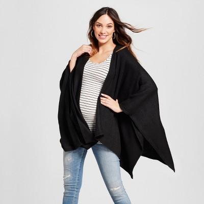 Maternity Cozy Wrap Cardigan - Isabel Maternity™ by Ingrid & Isabel® Black one size