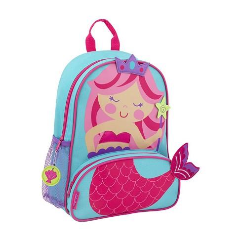 Stephen Joseph Sidekick Kids Toddler Backpack School Bag with Adjustable Straps and Mesh Side Pocket for Boys and Girls, Mermaid - image 1 of 3