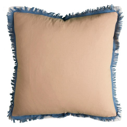 "Indigo/Khaki Solid Throw Pillow (20""x20"") - Rizzy Home® - image 1 of 1"