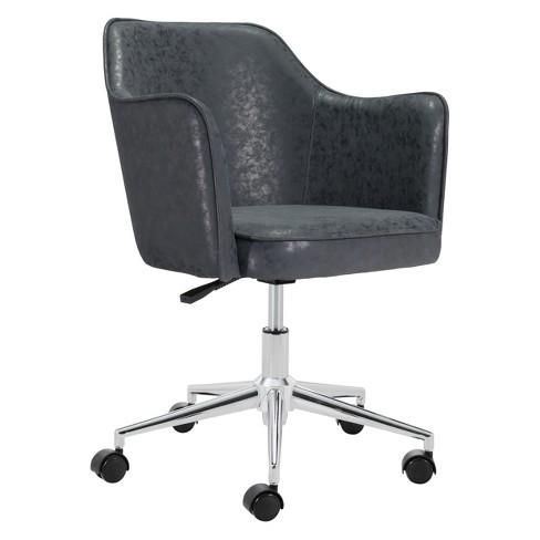 Sculpted Adjustable Office Chair Black Zm Home Target
