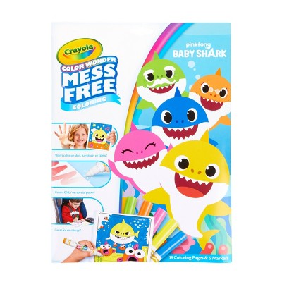 Crayola Color Wonder Baby Shark Coloring Pages Set