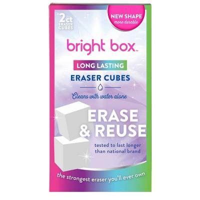 Bright Box Eraser Cube - 2ct