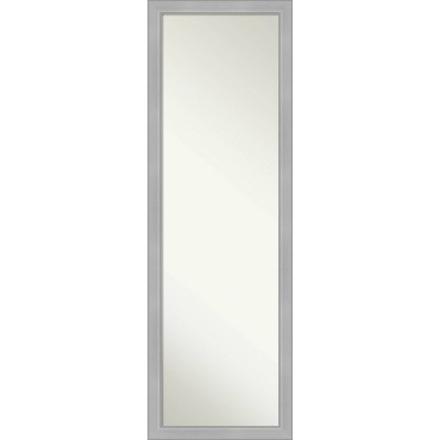 "17"" x 51"" Vista Brushed Framed On the Door Mirror Nickel - Amanti Art"