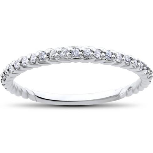 Pompeii3 1/4ct Diamond Braided Wedding Ring 14K White Gold - image 1 of 4