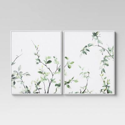 "(Set of 2) 24"" x 30"" Greenery Framed Wall Art - Threshold™"