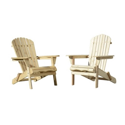 2pc Oceanic Adirondack Chairs - Natural - W Unlimited