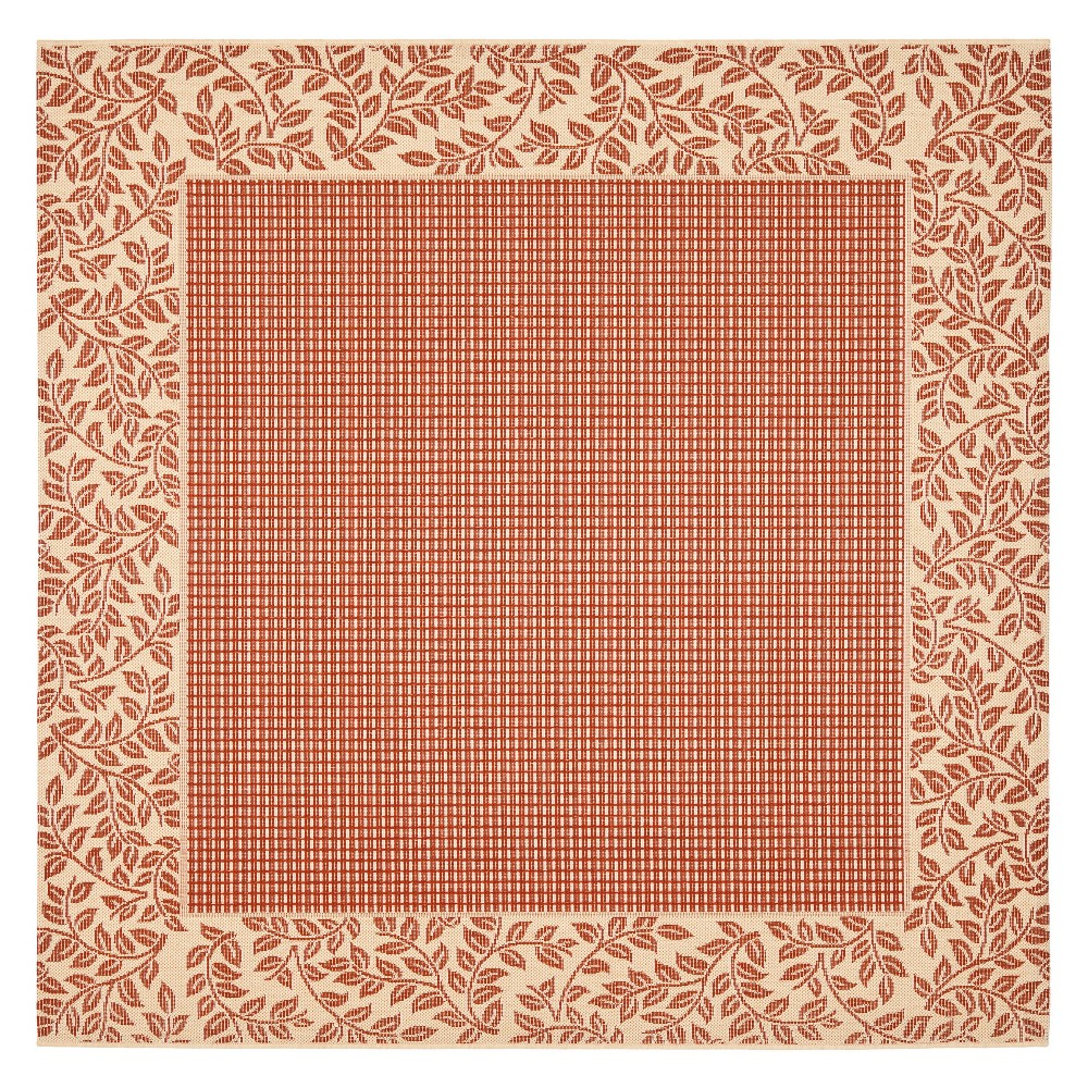 6'7 Libby Outdoor Rug Red/Natural - Safavieh