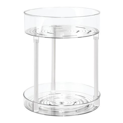 mDesign Bathroom Vanity 2-Level Makeup Storage Turntable - image 1 of 4
