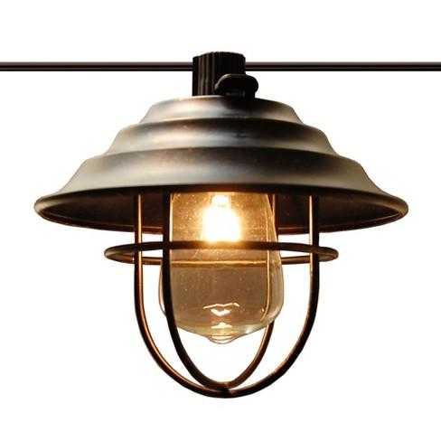 10 Lights Metal Up Lid Electric Caf String Lights Bronze - Lumabase - image 1 of 5