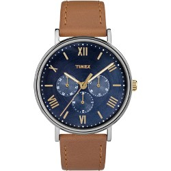 Men's Timex Southview Watch with Leather Strap - Brown TW2R29100JT