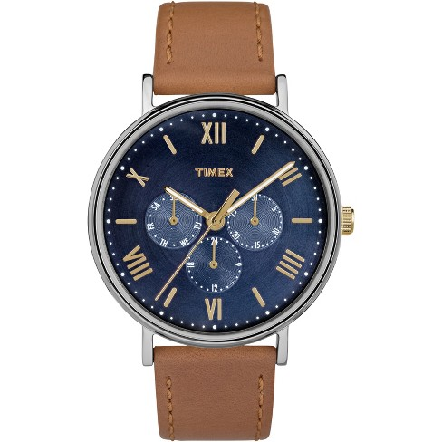 Men's Timex Southview Watch with Leather Strap - Brown TW2R29100JT - image 1 of 3