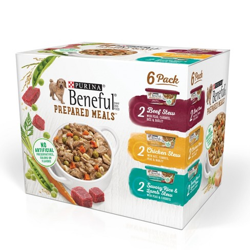 Beneful Prepared Meals Lamb, Chicken & Beef Stew Wet Dog Food - 10oz / 6 pack - image 1 of 6