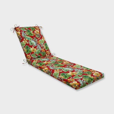 """80"""" x 23"""" x 3"""" Beachcrest Poppy Chaise Lounge Outdoor Cushion Red - Pillow Perfect"""