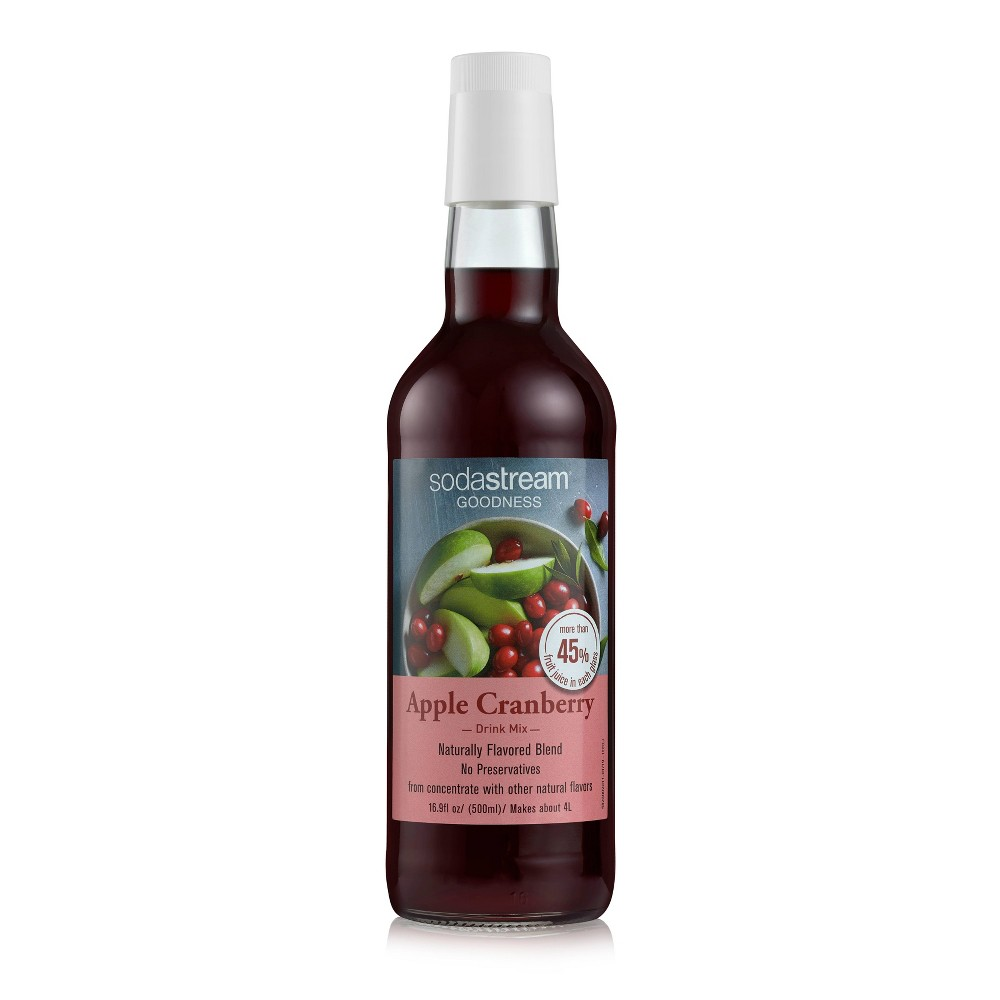 Image of SodaStream 16.9oz Goodness Apple Cranberry Drink Mix