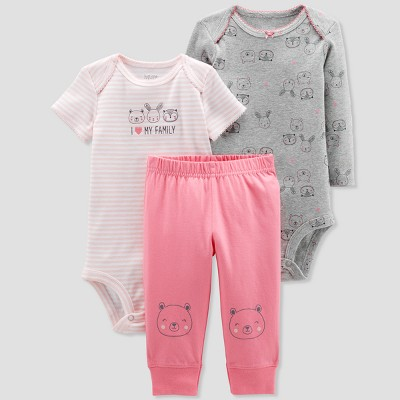 Baby Girls' 3pc Turn Me Around Owl Family Set - Just One You® made by carter's Pink 3M