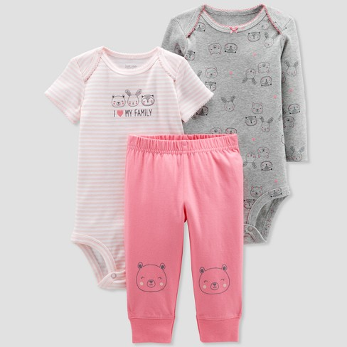 Baby Girls' 3pc Turn Me Around Owl Family Set - Just One You® made by carter's Pink - image 1 of 1