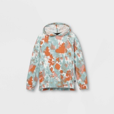 Boys' Tie-Dye Hoodie Sweatshirt - art class™ Teal/Orange