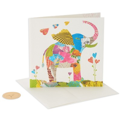Papyrus Collage Elephant Birthday Card