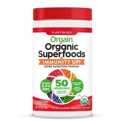 Orgain Organic Superfoods + Immunity UP! Nutrition Food - Honeycrisp Apple - 9.9oz