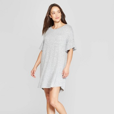 Women's Perfectly Cozy Nightgown - Stars Above™ Gray L
