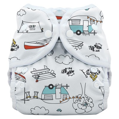 Thirsties Snap Duo Wrap Diaper, Size One - Happy Camper