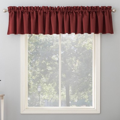 "54""x18"" Seymour Energy Efficient Rod Pocket Curtain Valance - Sun Zero"