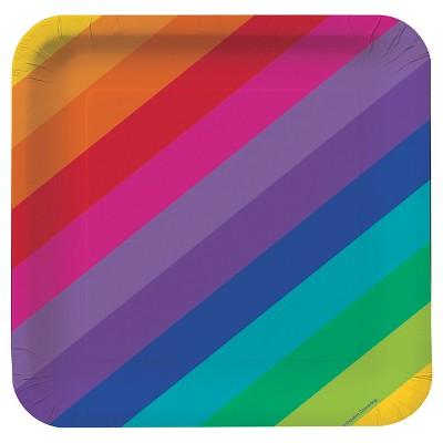 "Rainbow 9"" Paper Plates - 8ct"