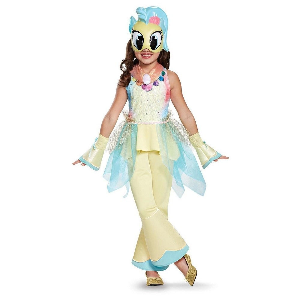 Image of Halloween Girls' My Little Pony: Princess Skystar Deluxe Toddler Costume 3T-4T, Girl's, MultiColored