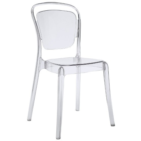 Entreat Dining Side Chair Clear - Modway - image 1 of 4