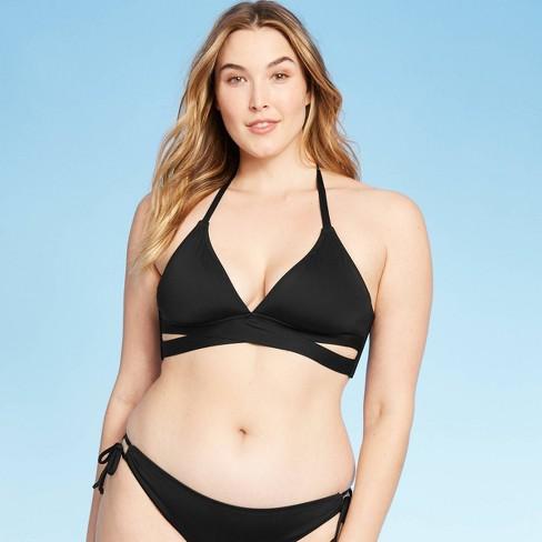 Women's Faux Wrap Halter Bikini Top - Kona Sol™ - image 1 of 4