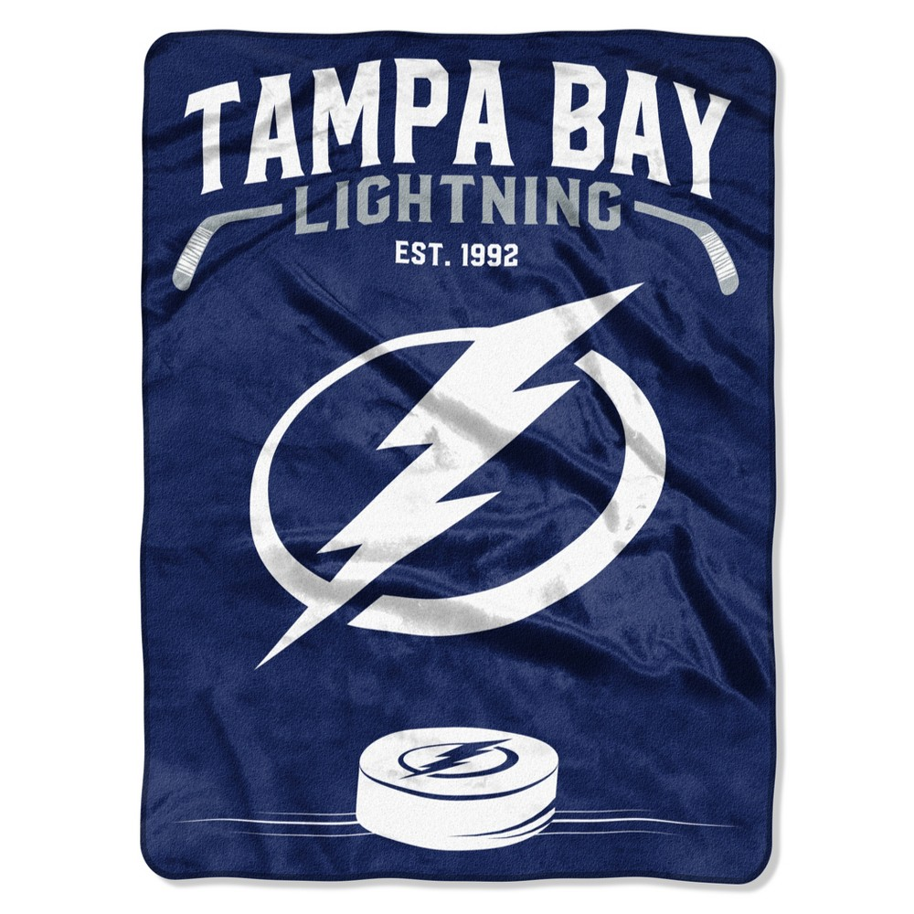 NHL Tampa Bay Lightning Raschel Throw Blanket