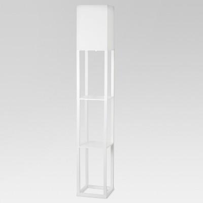 Shelf Floor Lamp White Includes Energy Efficient Light Bulb - Threshold™