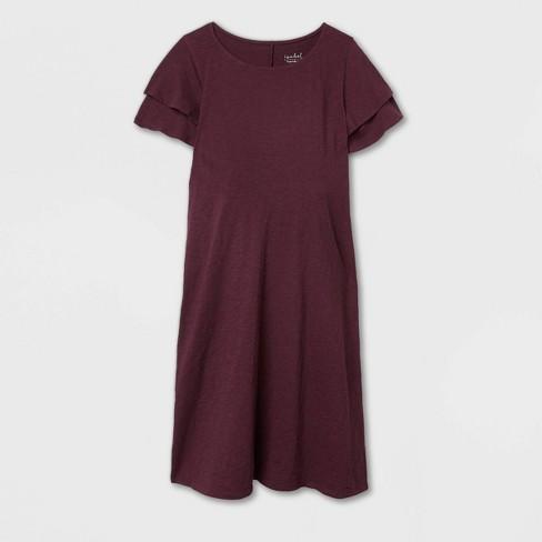 Tier Flutter Short Sleeve Knit Maternity Dress - Isabel Maternity by Ingrid & Isabel™ - image 1 of 2