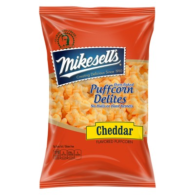 Mikesell's Cheddar Flavored Oven Baked Delites Puffcorn - 6oz