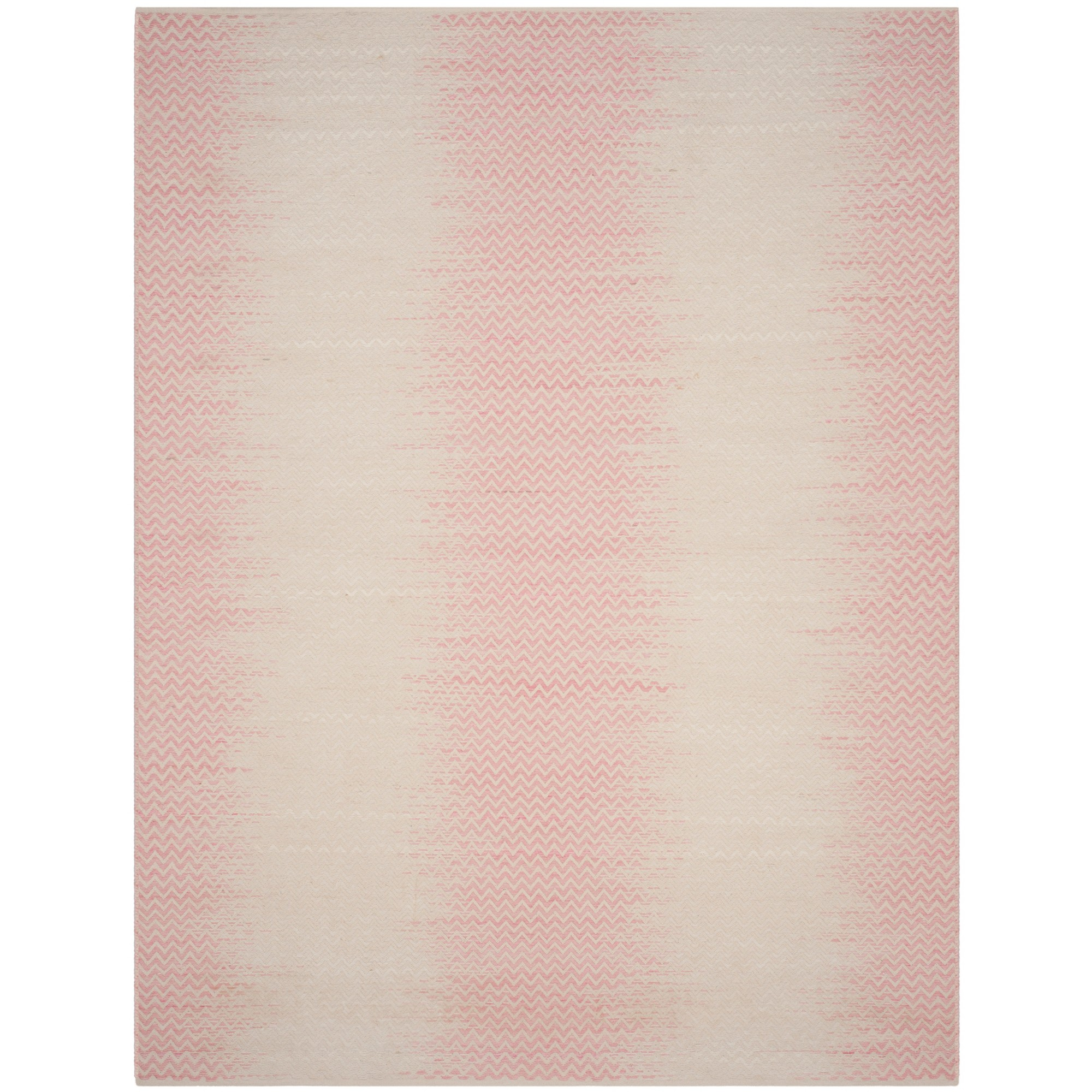 8'X10' Chevron Woven Area Rug Light Pink/Ivory - Safavieh