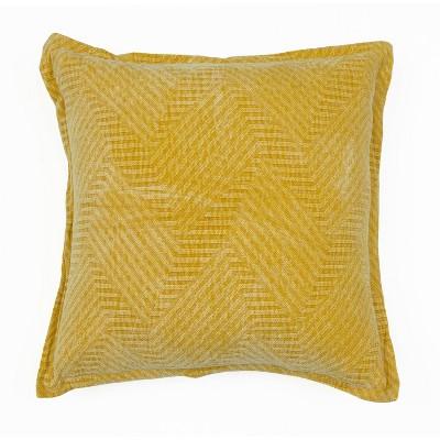 """18""""x18"""" Rhea Woven Cotton Pillow - Décor Therapy"""