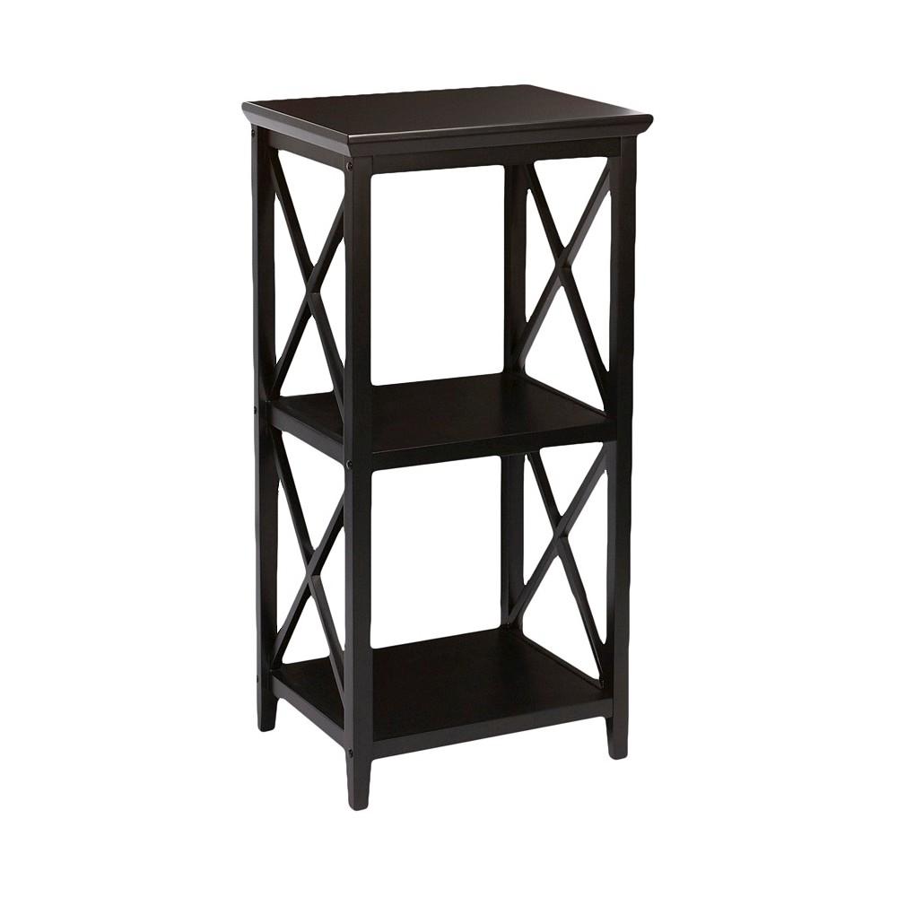 X-Frame Collection 3-Shelf Storage Tower Espresso (Brown) - RiverRidge