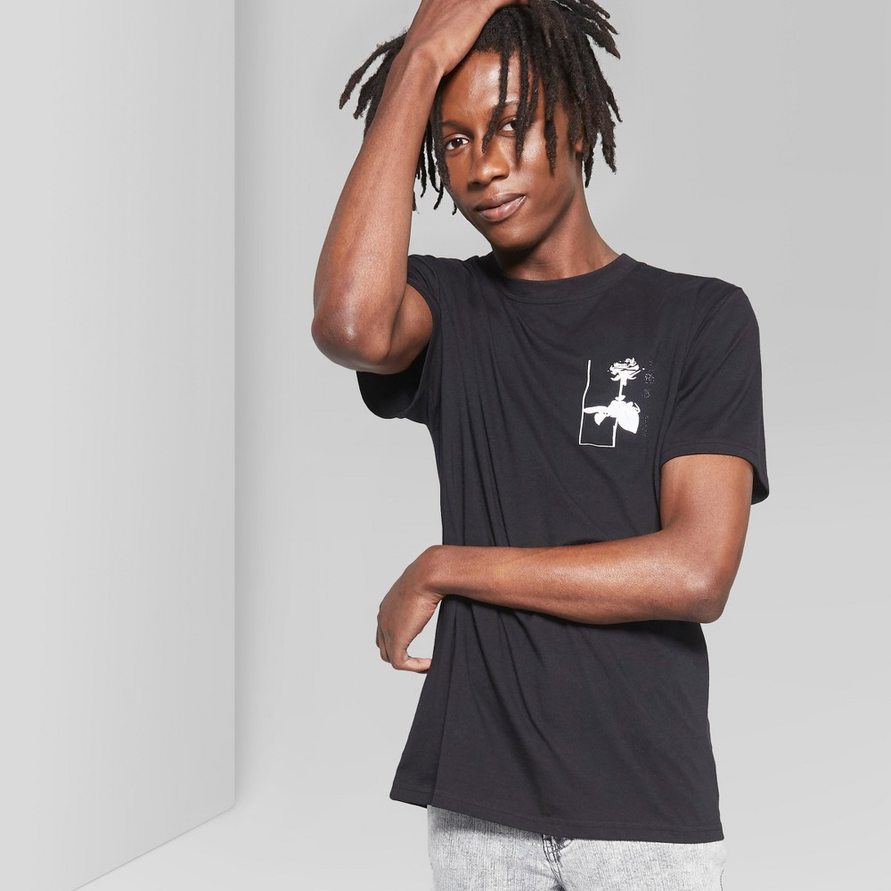 Men's Short Sleeve Knitted Graphic T-Shirt - Original Use Black S