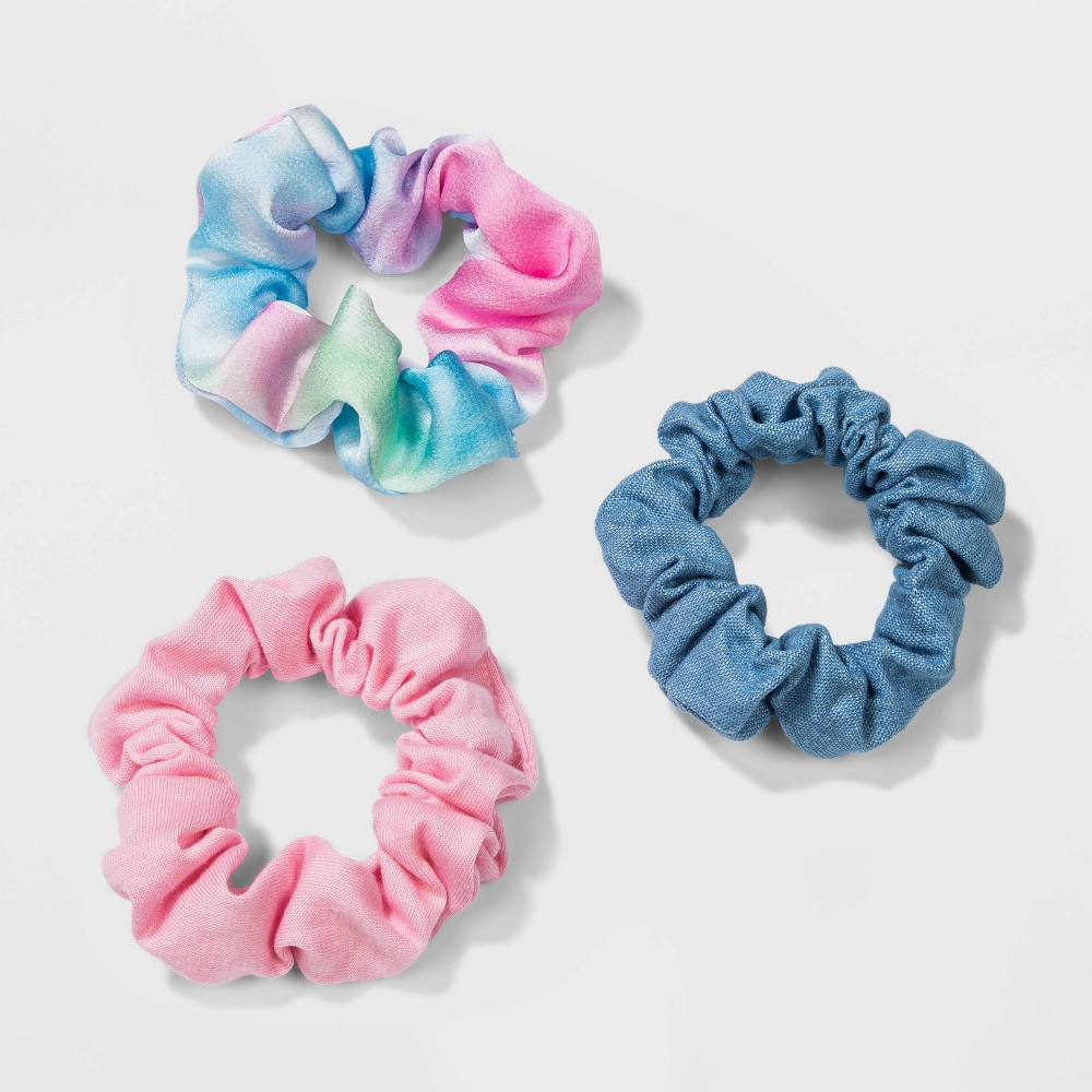 Vintage Hair Accessories: Combs, Headbands, Flowers, Scarf, Wigs Fabric Jersey Hammered Satin Tie Dye Twisters Hair Elastics - Wild Fable $6.00 AT vintagedancer.com
