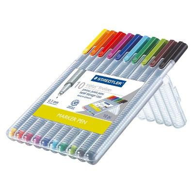10pk Felt tip Marker Pen Multicolor - Staedtler
