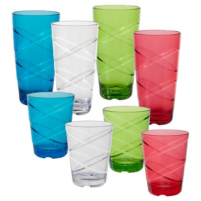 CreativeWare® 8pc Acrylic Circus Tumblers Multicolored