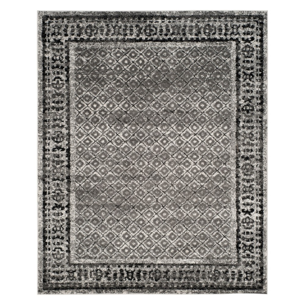 10'X14' Diamond Area Rug Ivory/Silver - Safavieh