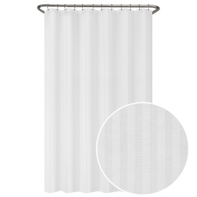 Ultimate Striped Shower Liner White - Zenna Home