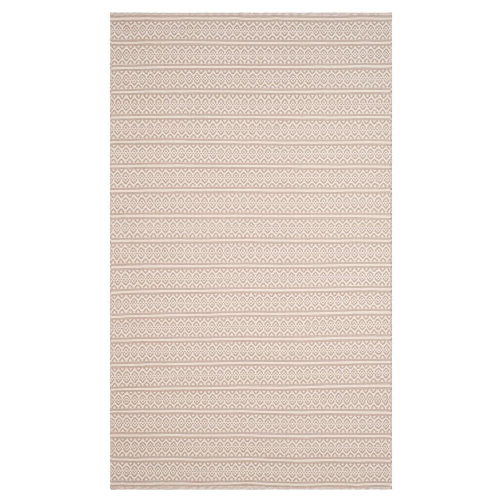 Ivory/Gray Geometric Woven Area Rug - (5'X8') - Safavieh