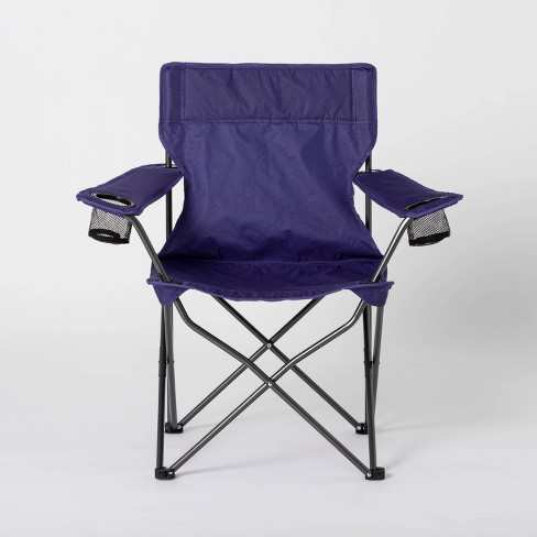 Adult Novelty Quad Chair Solid Navy - Sun Squad™ - image 1 of 4