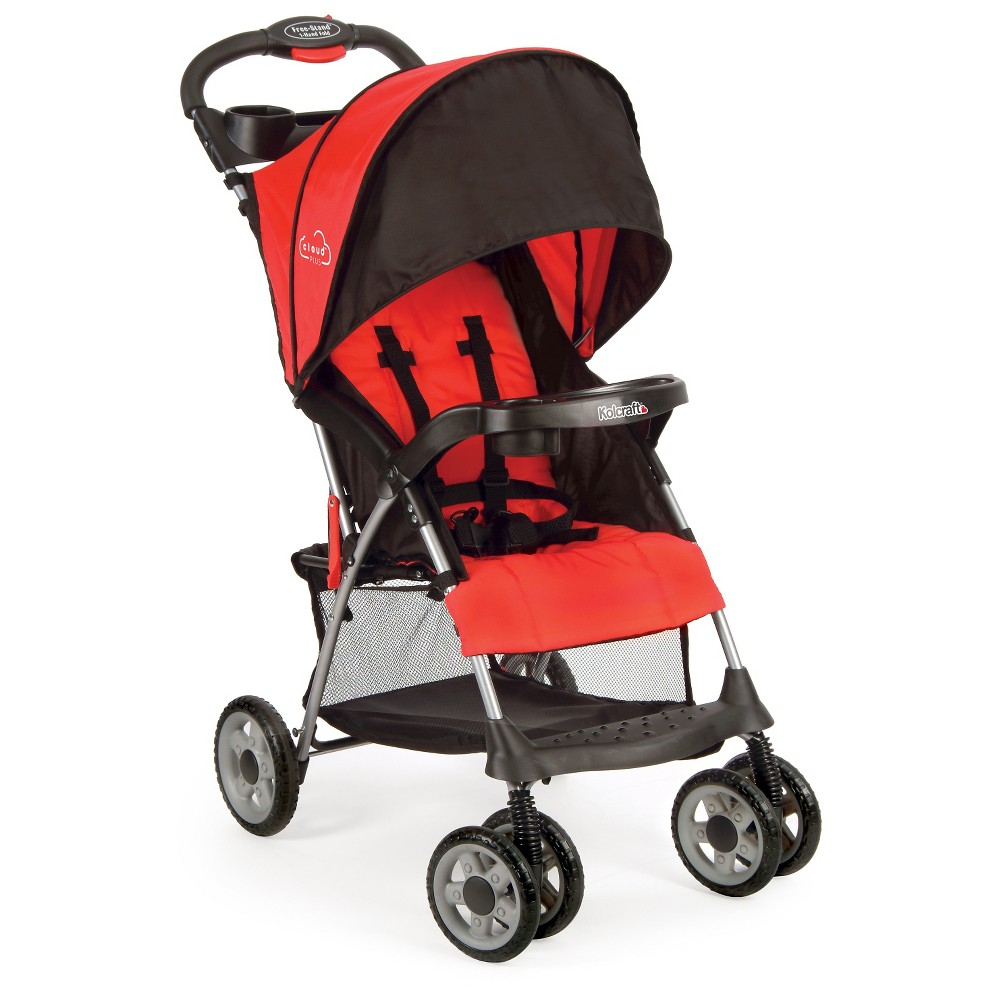 Image of Kolcraft Cloud Plus Lightweight Stroller - Fire Red, Red Red