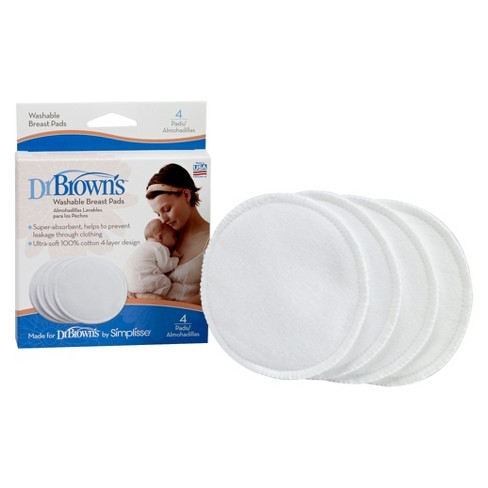 Dr. Brown's Washable Breast Pads - 4 Pack - image 1 of 1