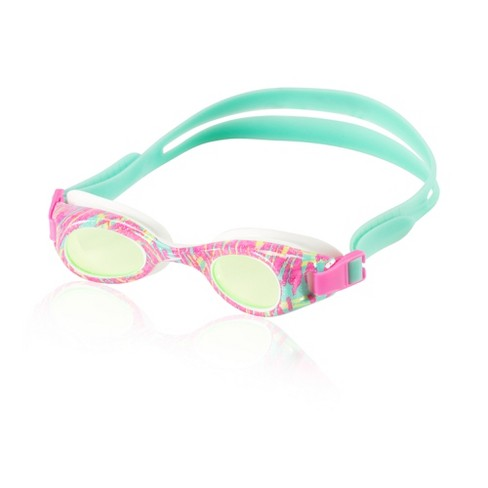Speedo Kids Glide Print Goggle - Pink/Green - image 1 of 1