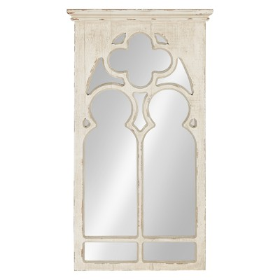 Kate & Laurel 16.3 x31.5  Mirabela Arch Framed Decorative Wall Mirror White